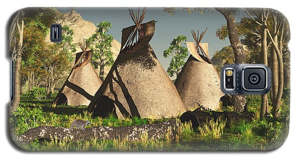 Tipis In The Trees Galaxy S5 Case
