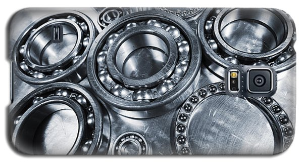 Galaxy S5 Case featuring the photograph Titanium And Steel Ball-bearings by Christian Lagereek