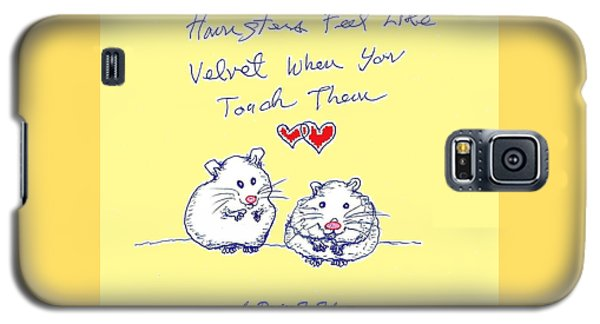 Galaxy S5 Case featuring the drawing Title Page For Hamster Book by Denise Fulmer
