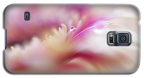 Galaxy S5 Case featuring the photograph To Live In Dream 3. Macro Gerbera by Jenny Rainbow