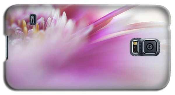 Galaxy S5 Case featuring the photograph To Live In Dream. Macro Gerbera by Jenny Rainbow