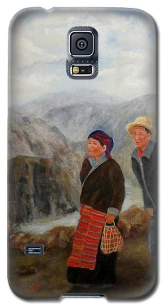 Galaxy S5 Case featuring the painting To Market by Roseann Gilmore