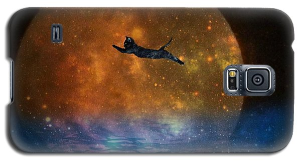 To The Moon And Back Cat Galaxy S5 Case