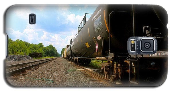 Galaxy S5 Case featuring the photograph Tobyhanna Freight Train by Iconic Images Art Gallery David Pucciarelli