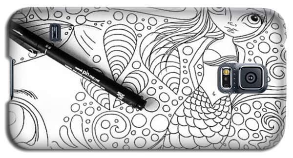 Today: Line Drawing. ✒️ Galaxy S5 Case by Jaz Higgins
