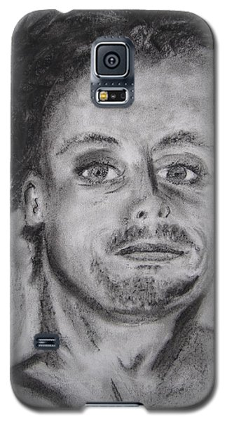 Galaxy S5 Case featuring the drawing Todd by Patricia Cleasby