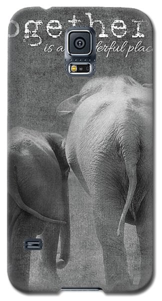 Galaxy S5 Case featuring the photograph Together by Rebecca Cozart