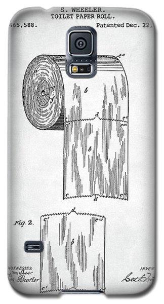 Toilet Paper Roll Patent Galaxy S5 Case by Taylan Apukovska