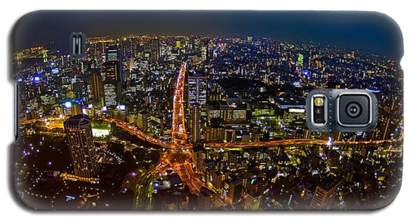 Galaxy S5 Case featuring the photograph Tokyo At Night by Dan Wells