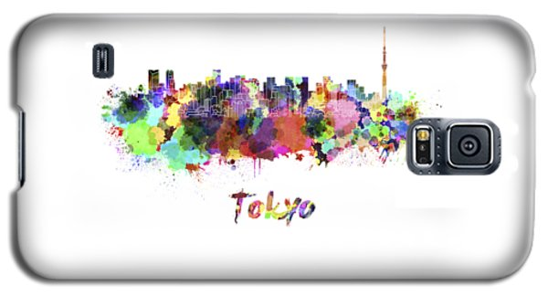 Tokyo V2 Skyline In Watercolor Galaxy S5 Case by Pablo Romero