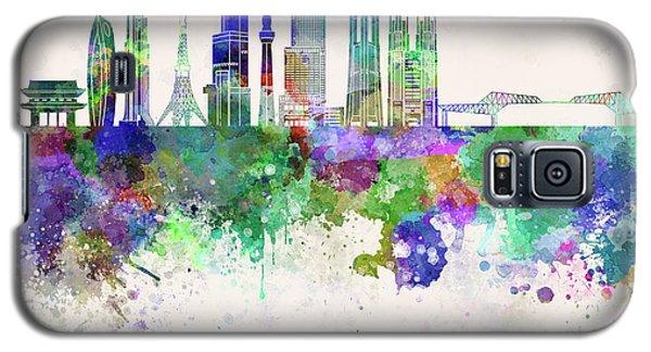 Tokyo V3 Skyline In Watercolor Background Galaxy S5 Case by Pablo Romero