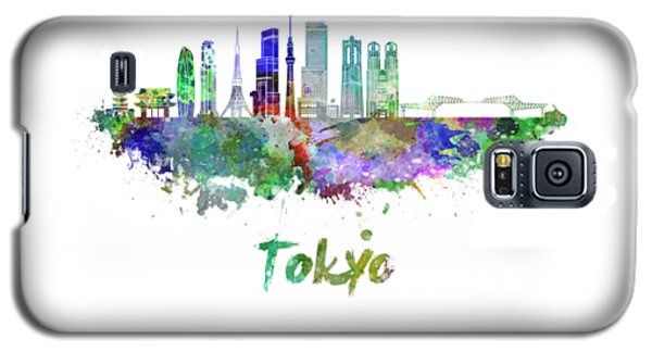 Tokyo V3 Skyline In Watercolor Galaxy S5 Case by Pablo Romero