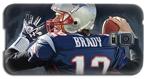 Galaxy S5 Case featuring the painting Tom Brady Artwork by Sheraz A
