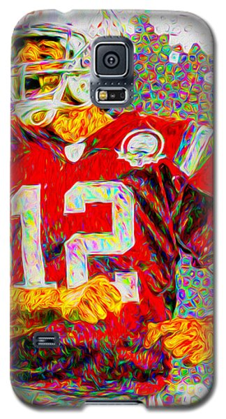 Tom Brady New England Patriots Football Nfl Painting Digitally Galaxy S5 Case