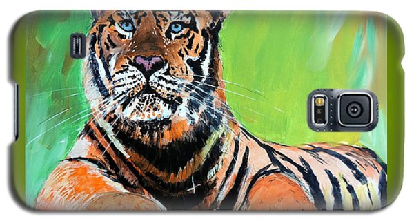 Galaxy S5 Case featuring the painting Tom Tiger by Tom Riggs