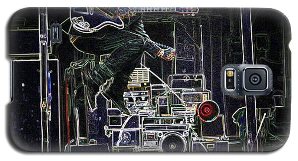 Galaxy S5 Case featuring the mixed media Tom Waits Jamming by Charles Shoup