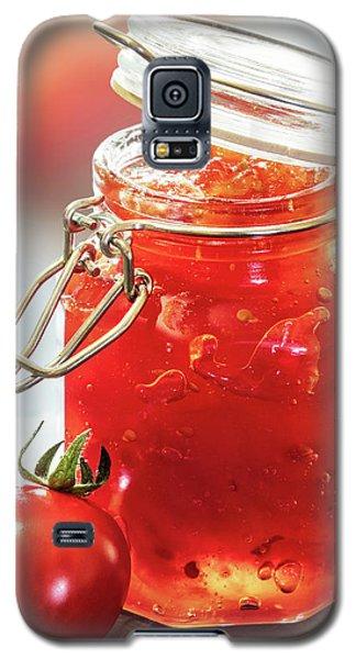 Tomato Galaxy S5 Case - Tomato Jam In Glass Jar by Johan Swanepoel