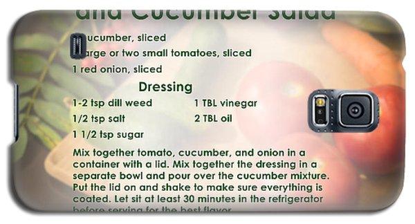 Tomato Onion Cucumber Salad Recipe Galaxy S5 Case