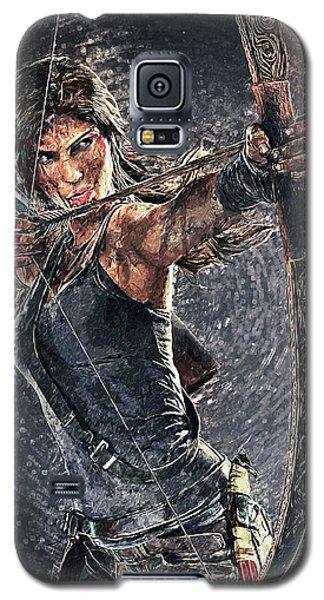 Tomb Raider Galaxy S5 Case by Taylan Apukovska