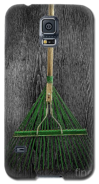 Galaxy S5 Case featuring the photograph Tools On Wood 10 On Bw by YoPedro