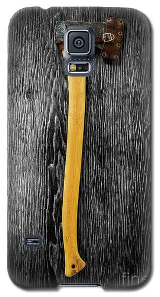 Galaxy S5 Case featuring the photograph Tools On Wood 11 On Bw by YoPedro