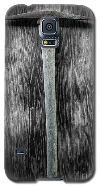 Galaxy S5 Case featuring the photograph Tools On Wood 13 On Bw by YoPedro