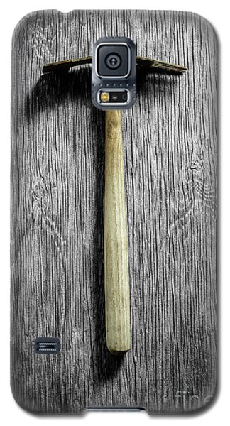 Galaxy S5 Case featuring the photograph Tools On Wood 16 On Bw by YoPedro