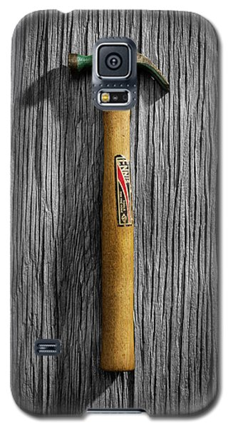 Galaxy S5 Case featuring the photograph Tools On Wood 17 On Bw by YoPedro