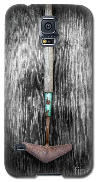 Galaxy S5 Case featuring the photograph Tools On Wood 5 On Bw by YoPedro