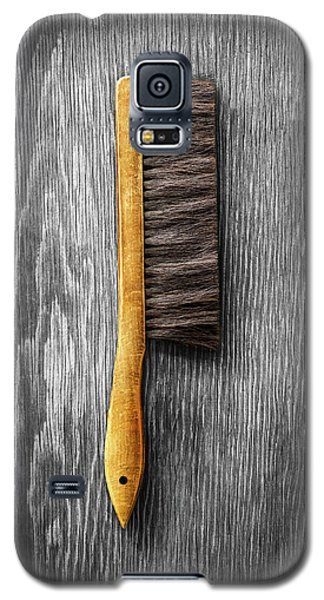 Galaxy S5 Case featuring the photograph Tools On Wood 52 On Bw by YoPedro