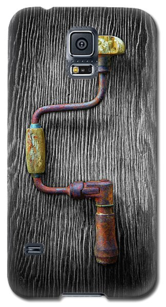 Galaxy S5 Case featuring the photograph Tools On Wood 61 On Bw by YoPedro