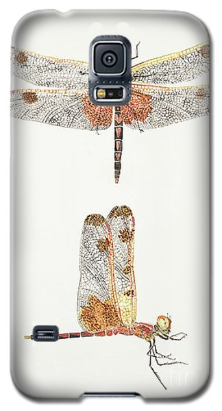 Top And Side Views Of A Male Calico Pennant Dragonfly Galaxy S5 Case