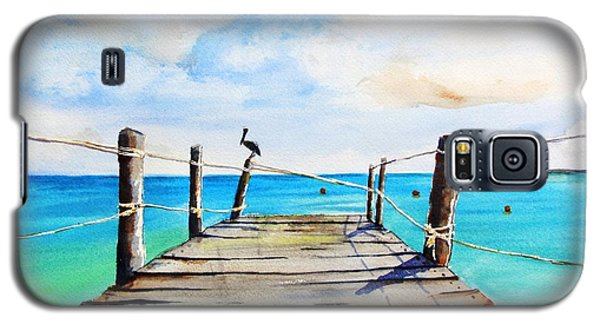 Top Of Old Pier On Playa Paraiso Galaxy S5 Case