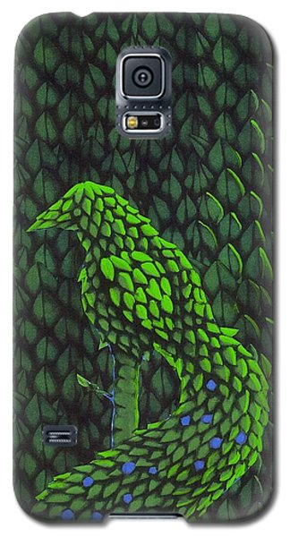 Topiary Peacock Galaxy S5 Case by Donna Huntriss