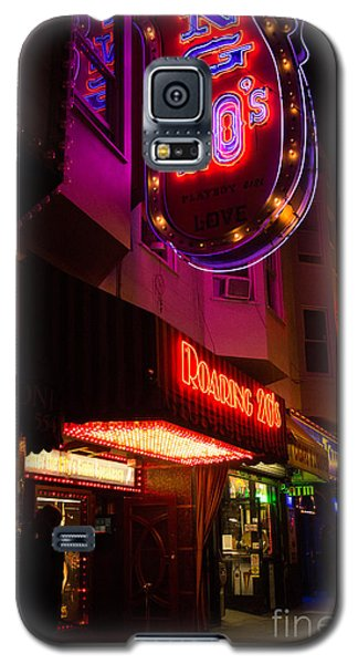 Topless Bar Signs At Night In North Beach San Francisco Galaxy S5 Case by Jason Rosette