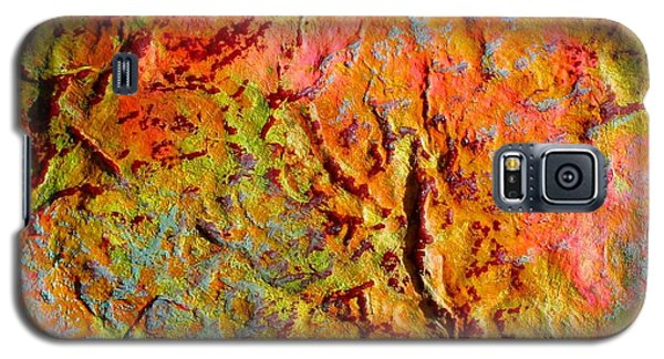 Topographical Map Color Poem Galaxy S5 Case