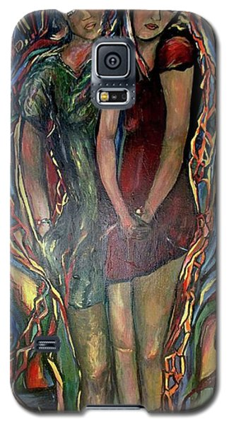 Galaxy S5 Case featuring the painting Genetics,topoisomerase by Dawn Fisher