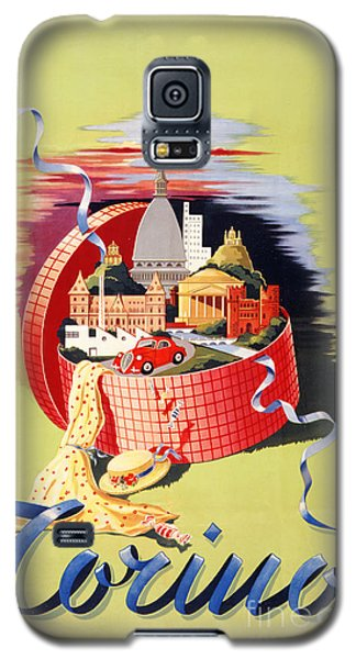 Torino Turin Italy Vintage Travel Poster Restored Galaxy S5 Case