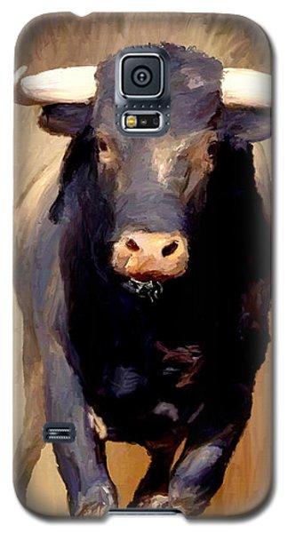 Galaxy S5 Case featuring the painting Bull Toro Bravo by James Shepherd