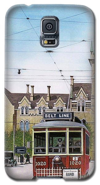Galaxy S5 Case featuring the painting Toronto Belt Line by Kenneth M Kirsch