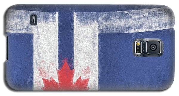Galaxy S5 Case featuring the digital art Toronto Canada City Flag by JC Findley