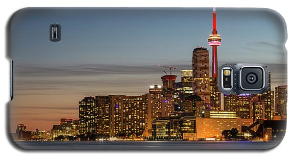 Galaxy S5 Case featuring the photograph Toronto Skyline At Dusk by Adam Romanowicz