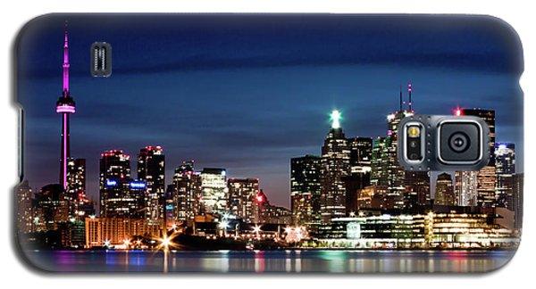 Toronto Skyline At Night From Polson St No 2 Galaxy S5 Case