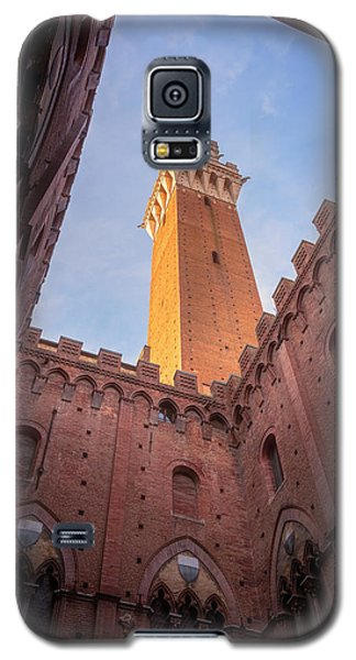 Galaxy S5 Case featuring the photograph Torre Del Mangia Siena Italy by Joan Carroll