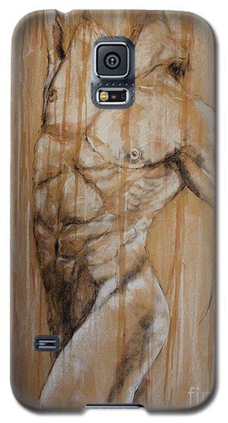 Galaxy S5 Case featuring the drawing Torso by Debora Cardaci