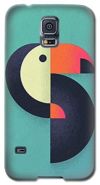 Toucan Geometric Airbrush Effect Galaxy S5 Case by Ivan Krpan