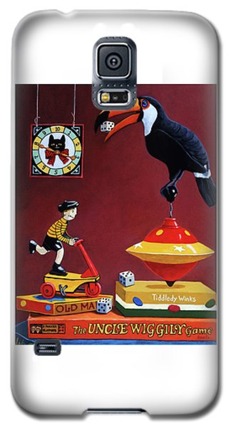 Galaxy S5 Case featuring the painting Toucan Play At This Game by Linda Apple