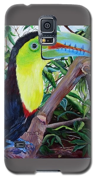 Toucan Portrait Galaxy S5 Case by Marilyn McNish