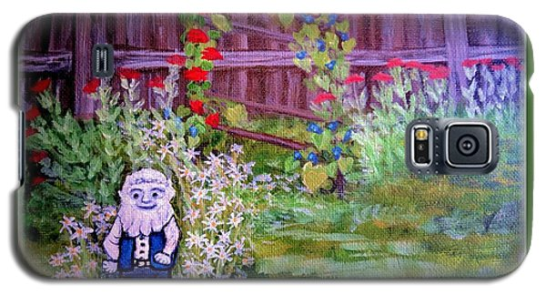 Galaxy S5 Case featuring the painting Touched By A Gnome In Grandma's Secret Garden by Kimberlee Baxter