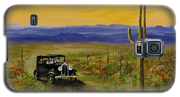 Galaxy S5 Case featuring the painting Touring Arizona by Jack Skinner